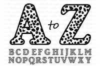 Cheetah Alphabet Svg Cheetah Letters Clipart By Doodle Cloud