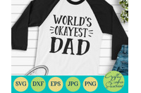 World S Okayest Dad Svg Dad Svg By Crafty Mama Studios