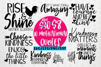 Motivational Quote Bundle Svg Eps Dxf Png By Coralcuts