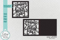 Happy Fathers Day Cut Out Card Laser Cut Cricut Svg Dxf Png By Kartcreation Thehungryjpeg Com