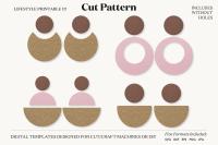 Earrings Svg Template Cut File Cricut Earrings Bundle Leather Earring By Lifestyle Printable Co Thehungryjpeg Com
