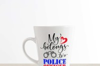 My Heart Belongs To A Police Officer Svg Dxf Png Eps By