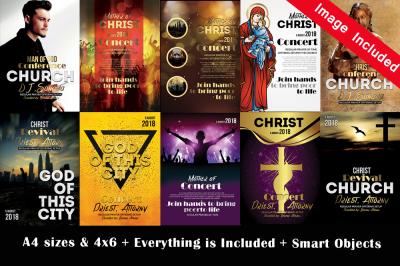 10 Church Flyer Template Bundle