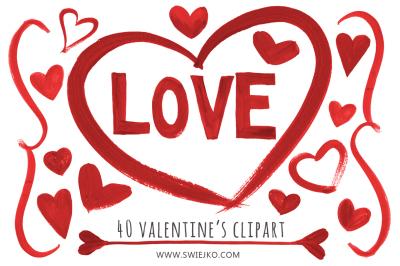 Valentine's Day, hearts clip art