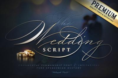 The Wedding Script font & invitation