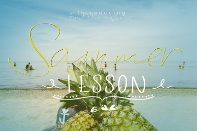 Sammer Lesson Font DUO