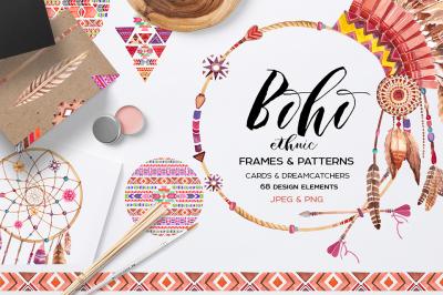 Boho ethnic style ( JPEG&PNG )