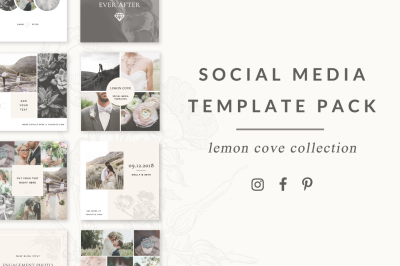 Social Media Templates - Lemon Cove Collection