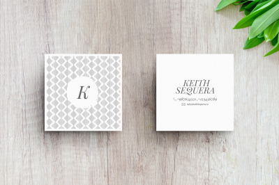 2 Business Card MockUps With Editable Templates