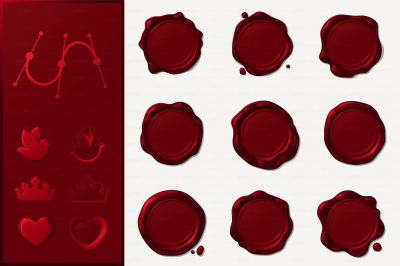 vector Wax seals SET