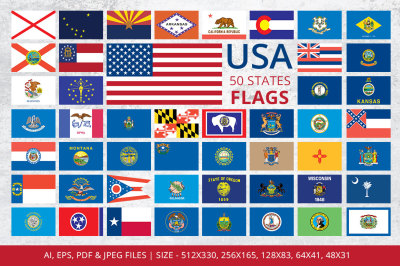 States Flags of USA