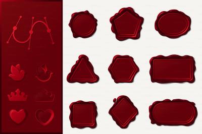 vector Wax geometric seals SET