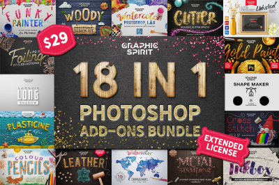 18 IN 1 Photoshop Bundle SALE