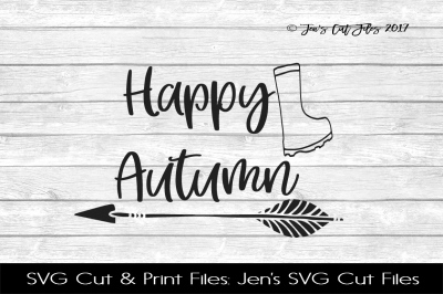 Happy Autumn SVG Cut File