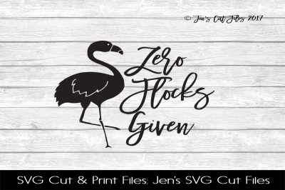 Zero Flocks Given SVG Cut File