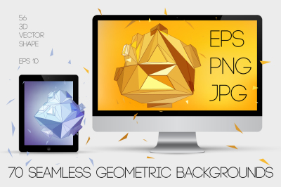 Big Set Polygonal design, 250+