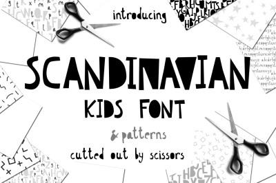 Scandinavian kids font & patterns