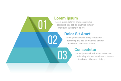 Pyramid Infographics with 3 Elements