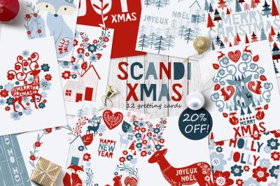 12 Scandi greeting cards