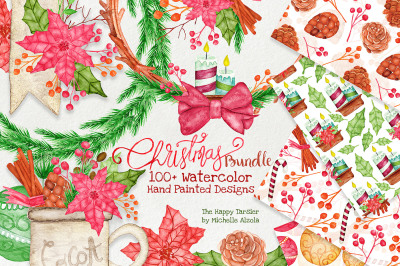Christmas Watercolor BUNDLE