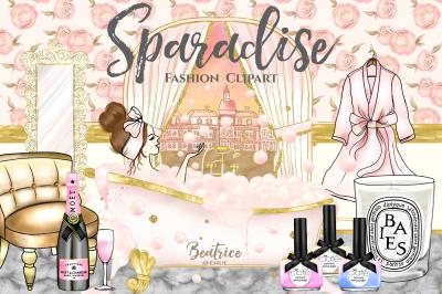 SPAradise fashion clipart set