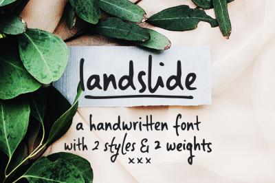 Landslide | a handwritten font