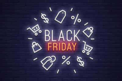 Black Friday Emblem & Logo - Neon style