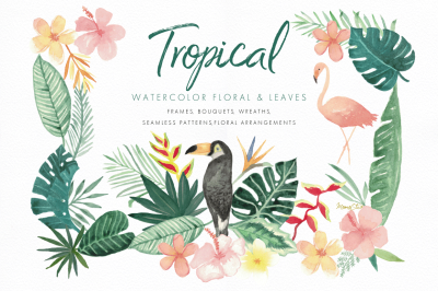 Tropical Florals & Leaves