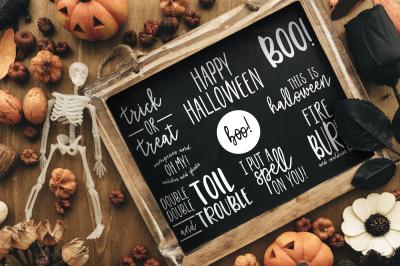 50% off Halloween Quote Overlays