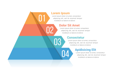 Pyramid Infographics with 4 Elements