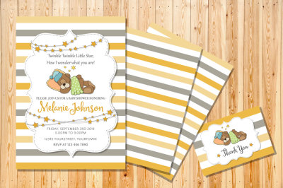 Super cute invitation for your Baby Shower event!!