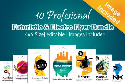 10 Futuristic Flyer Template Bundle