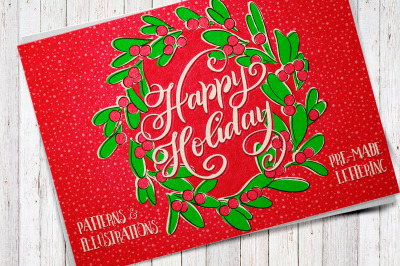 Happy Holiday vector pack