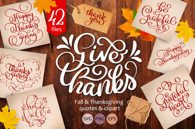 Lettering and calligraphy collection for Thanksgiving Day