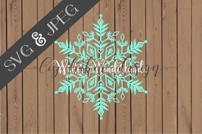 Winter Wonderland Cut File SVG JPEG