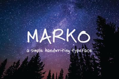 Marko Handwriting Typeface