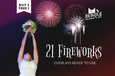 21 Firework Photo Overlays