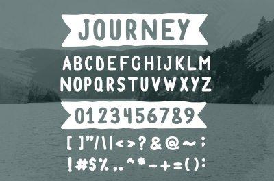 Journey - Handmade Font