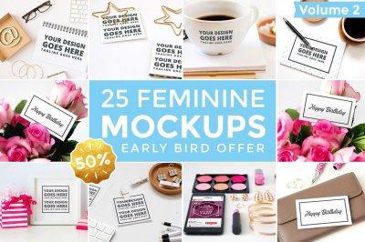 25 Feminine Mockups - 50% Off