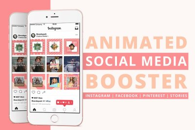 Animated Social Media Booster .PSD