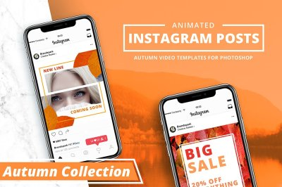 ANIMATED - Autumn Instagram Posts