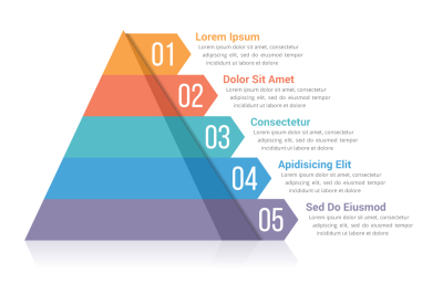 Pyramid Infographics with 5 Elements