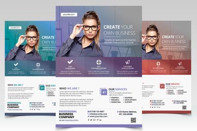 Create Business - PSD Flyer Template