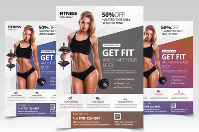 Get Fit - Fitness PSD Flyer Template