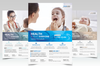 Health and Medical - PSD Flyer Template