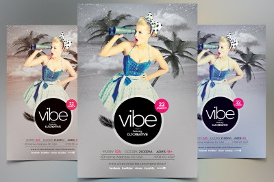 Vibe - Event PSD Flyer Template
