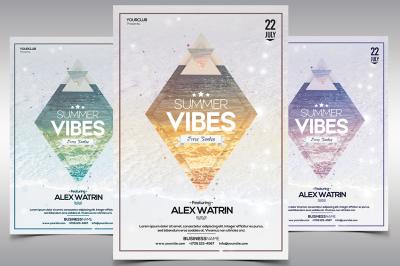 Summer Vibes - PSD Flyer Template