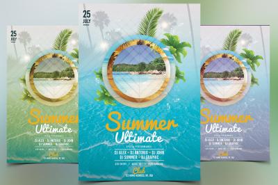 Summer Ultimate - PSD Flyer Template