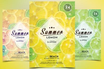 Summer Lemon - PSD Flyer Template