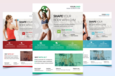 Fitness and Gym - PSD Flyer Template